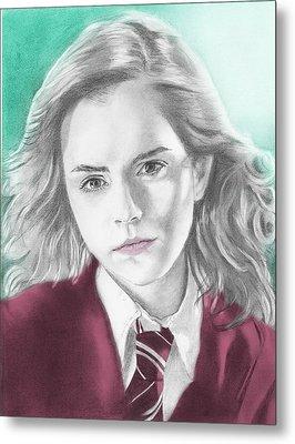 Hermione Granger - Individual Green Metal Print by Alexander Gilbert