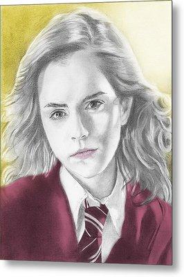Hermione Granger - Individual Yellow Metal Print by Alexander Gilbert