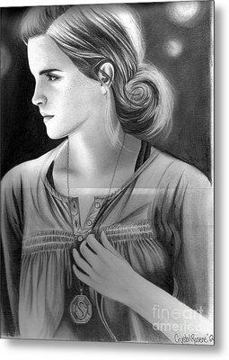 Hermione Granger Metal Print by Crystal Rosene