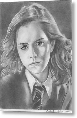 Hermione Granger - Pencil Metal Print by Alexander Gilbert