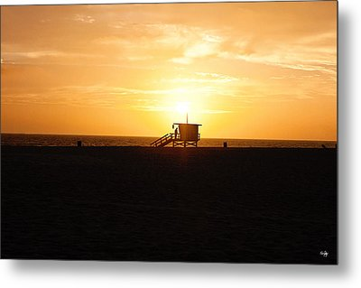 Hermosa Beach Sunset Metal Print by Scott Pellegrin