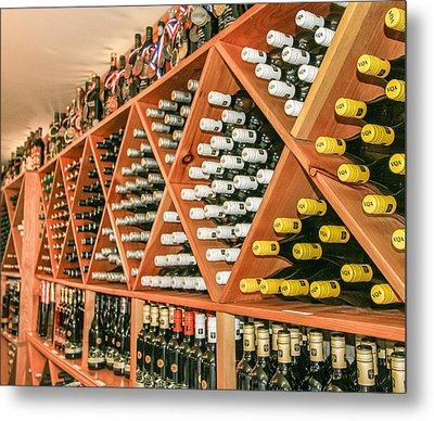 Hernders Estate Wines Metal Print by Nick Mares