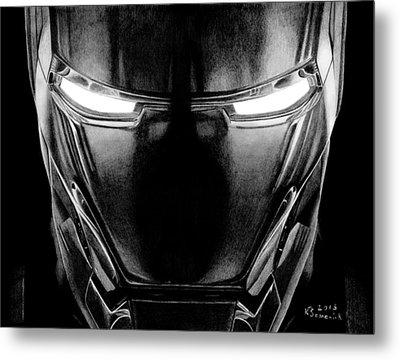 Hero In Shining Iron Metal Print by Kayleigh Semeniuk