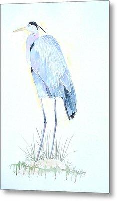 Heron Metal Print by Christine Lathrop
