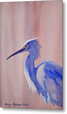 Heron Metal Print by Shirin Shahram Badie