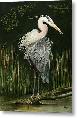Heron Metal Print by Terri  Meyer