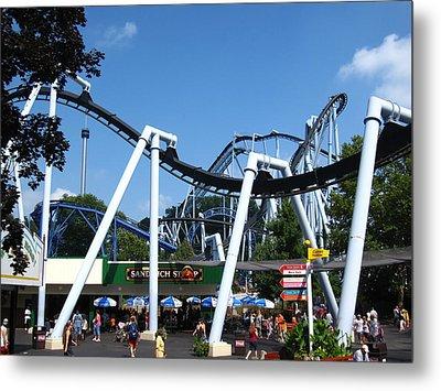 Hershey Park - Great Bear Roller Coaster - 121210 Metal Print by DC Photographer