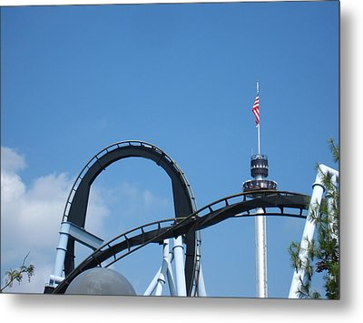 Hershey Park - Great Bear Roller Coaster - 121211 Metal Print by DC Photographer