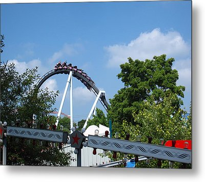 Hershey Park - Great Bear Roller Coaster - 121214 Metal Print by DC Photographer