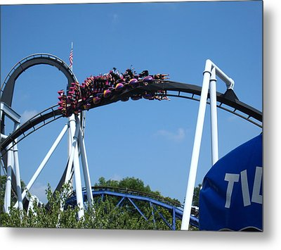 Hershey Park - Great Bear Roller Coaster - 121215 Metal Print by DC Photographer