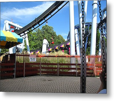 Hershey Park - Great Bear Roller Coaster - 121217 Metal Print by DC Photographer