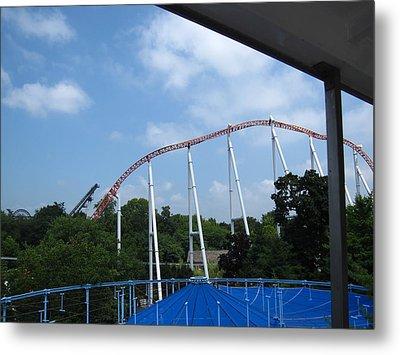 Hershey Park - Great Bear Roller Coaster - 12123 Metal Print