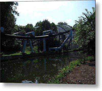 Hershey Park - Great Bear Roller Coaster - 12127 Metal Print by DC Photographer
