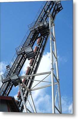 Hershey Park - Sidewinder Roller Coaster - 12121 Metal Print by DC Photographer