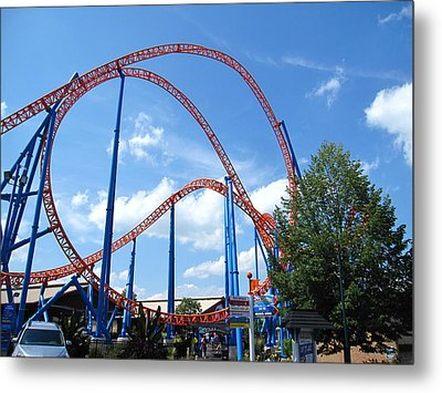 Hershey Park - Storm Runner Roller Coaster - 12125 Metal Print by DC Photographer