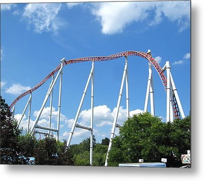 Hershey Park - Storm Runner Roller Coaster - 12126 Metal Print by DC Photographer
