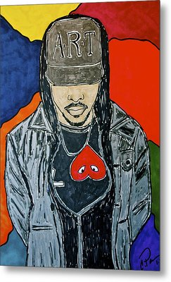 Metal Print featuring the drawing He's Got Swag by Chrissy  Pena