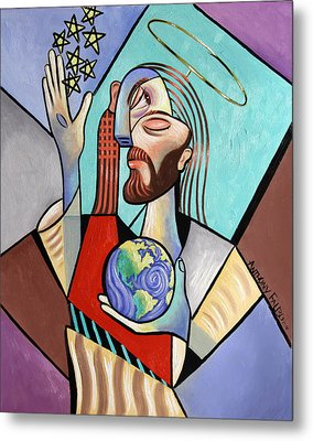 Hes Got The Whole World In His Hand Metal Print by Anthony Falbo