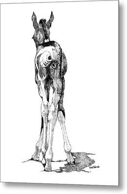 Hesitation Metal Print by Renee Forth-Fukumoto
