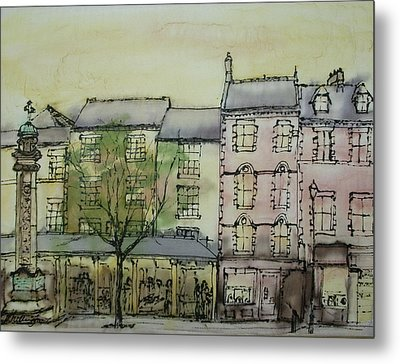 Hexham Market Place Northumberland  England Metal Print