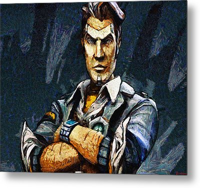 Hey Vault Hunter Handsome Jack Here Metal Print