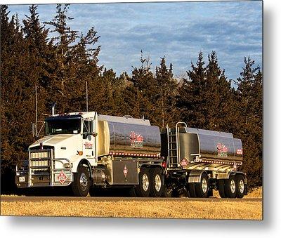 Hi-line Coop Tanker Metal Print by Bill Kesler