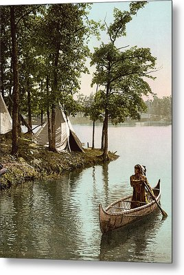 Hiawatha's Arrival Metal Print by Underwood Archives