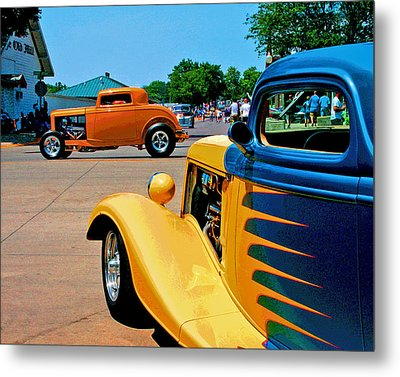 Metal Print featuring the photograph Hiboy Over Fender Custom by Christopher McKenzie