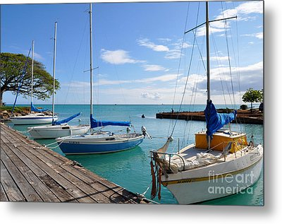 Metal Print featuring the photograph Hickam Harbor by Gina Savage