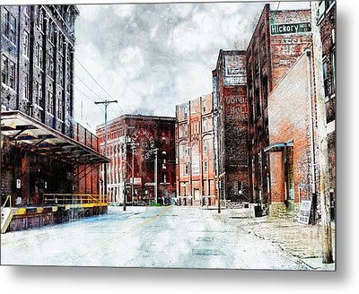 Hickory - Urban Building Row Metal Print by Liane Wright