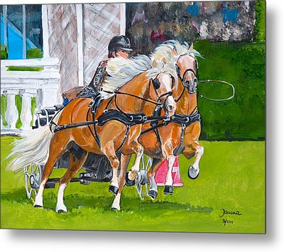 Metal Print featuring the painting Hickstead  by Janina  Suuronen