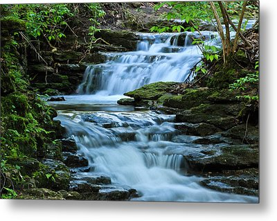 Hidden Falls Metal Print by Julie Andel