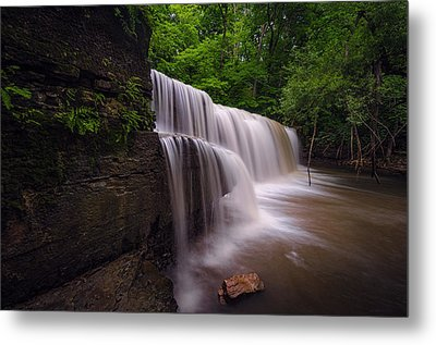 Metal Print featuring the photograph Hidden Falls Nerstrand Mn by RC Pics