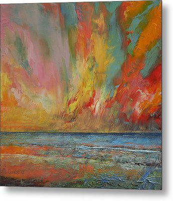 Hidden Heart Lava Sky Metal Print by Michael Creese