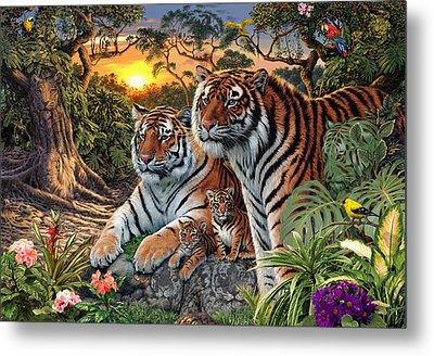 Hidden Images - Tigers Metal Print by Steve Read