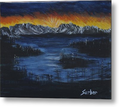 Hidden Lake Metal Print by Suzanne Surber