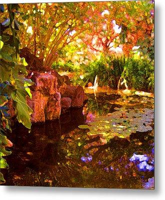 Hidden Pond Metal Print by Amy Vangsgard