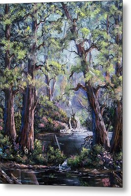 Metal Print featuring the painting Hidden Waters by Megan Walsh