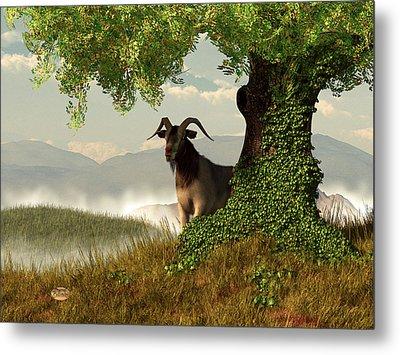 Hide And Goat Seek Metal Print by Daniel Eskridge