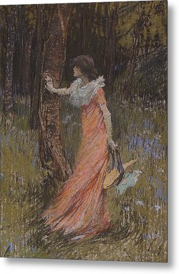 Hide And Seek Metal Print by Elizabeth Adela Stanhope Forbes