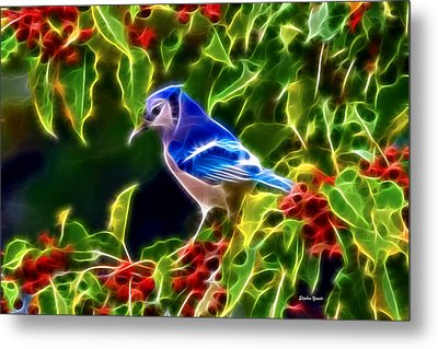 Hiding In The Berries Metal Print by Stephen Younts