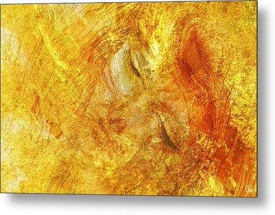 Hiding In Yellow Metal Print by Gun Legler