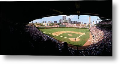 High Angle View Of A Baseball Stadium Metal Print by Panoramic Images