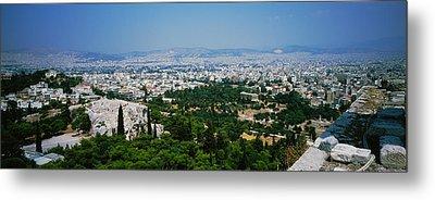 High Angle View Of A City, Acropolis Metal Print