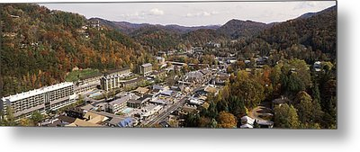 High Angle View Of A City, Gatlinburg Metal Print by Panoramic Images
