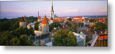 High Angle View Of A City, Tallinn Metal Print by Panoramic Images