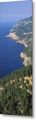 High Angle View Of A Coastline, Mirador Metal Print