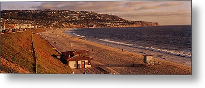 High Angle View Of A Coastline, Redondo Metal Print