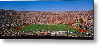 High Angle View Of A Football Stadium Metal Print by Panoramic Images