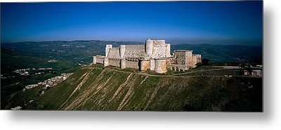 High Angle View Of A Fort, Crac Des Metal Print